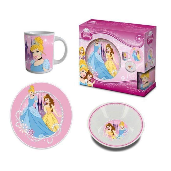 Set dejeuner porcelaine princesse achat vente bol for Set petit dejeuner porcelaine