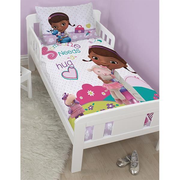 Parure de lit dr la peluche pour lit junior 120 achat for Housse de couette junior