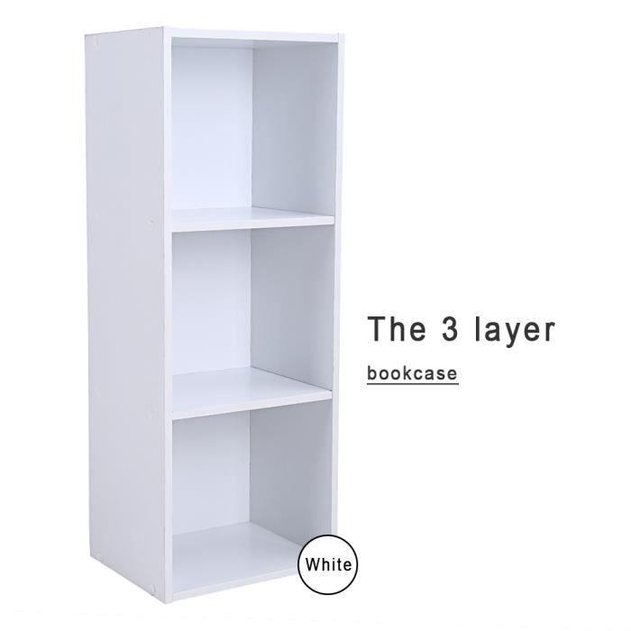 3 couches tag re biblioth que en bois rayonnage livres 4 couleurs aux choix achat vente. Black Bedroom Furniture Sets. Home Design Ideas