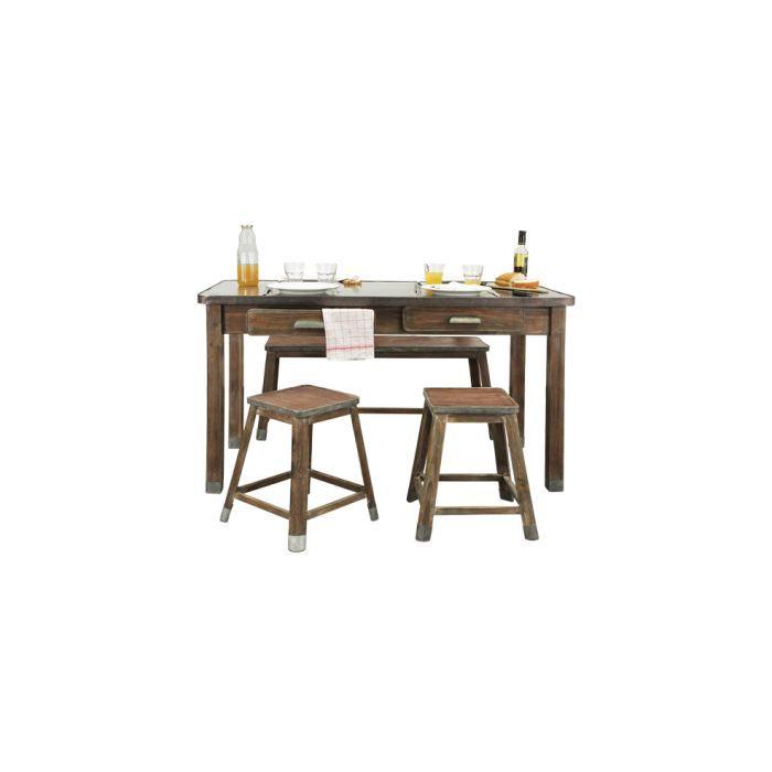 tabouret comptoir lot de 2 achat vente tabouret bois cdiscount. Black Bedroom Furniture Sets. Home Design Ideas