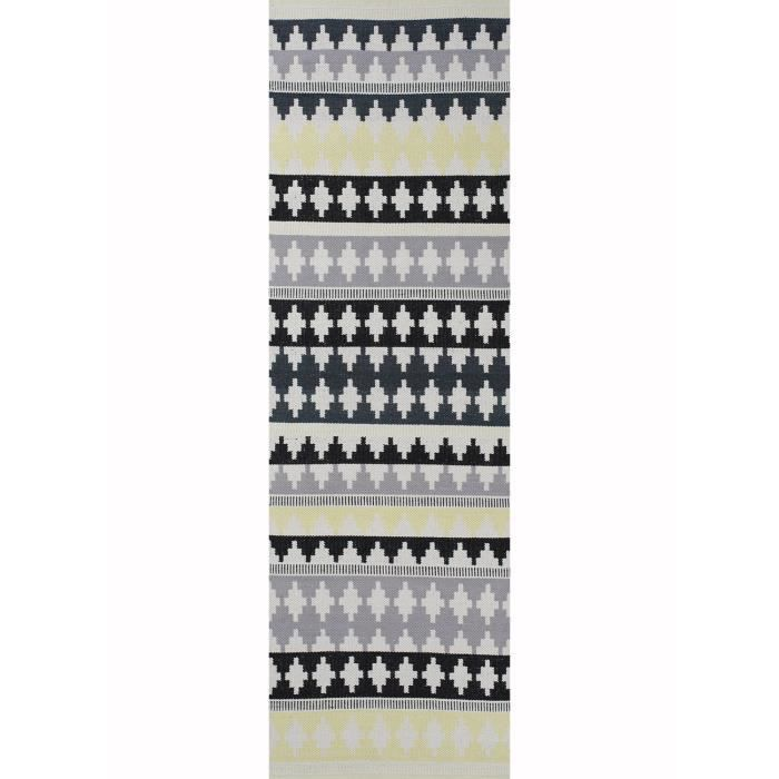 tapis couloir nantes jaune 80x250 par unamourdetapis tapis moderne achat vente tapis. Black Bedroom Furniture Sets. Home Design Ideas