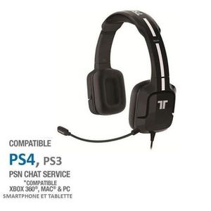 CASQUE - MICRO CONSOLE Casque Gaming Tritton Kunai Noir PS Vita-PS3-PS4