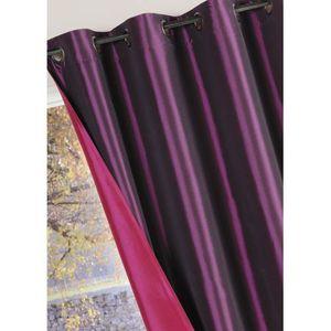 Rideaux violet achat vente rideaux violet pas cher soldes cdiscount for Rideau prune