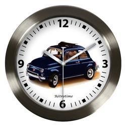 Pendule fiat 500 bleue achat vente horloge aluminium - Horloge murale led bleue ...