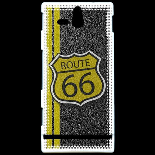 coque sony xperia u route 66 goudron rigide 100 made in france achat coque bumper pas cher. Black Bedroom Furniture Sets. Home Design Ideas