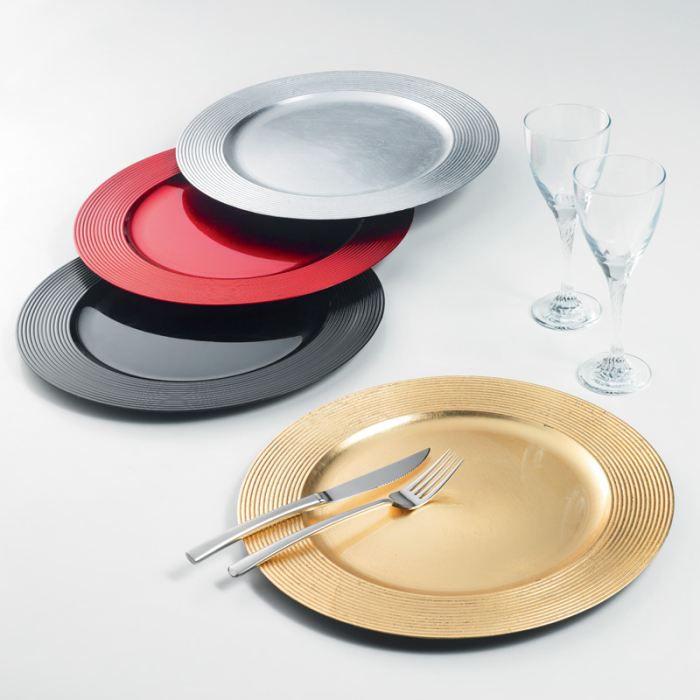 assiette de pr sentation 33 cm disques rouge achat vente assiette service cdiscount. Black Bedroom Furniture Sets. Home Design Ideas