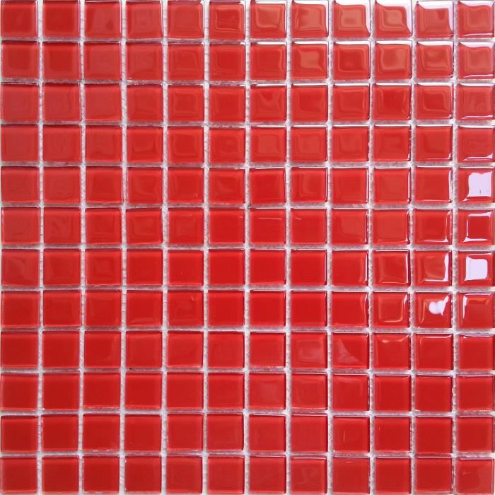 carrelage mosa que en verre rouge les feuilles enti res