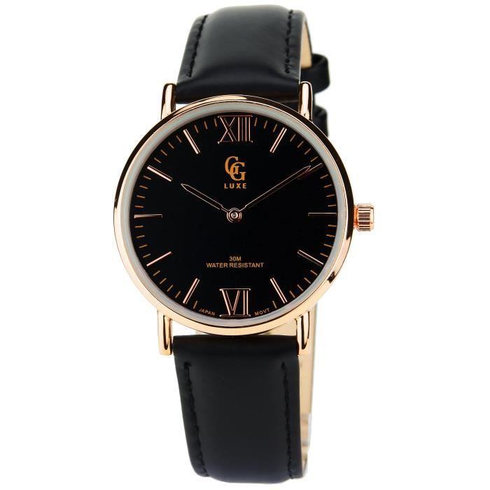 gg luxe montre femme bracelet cuir marron nelsy marron