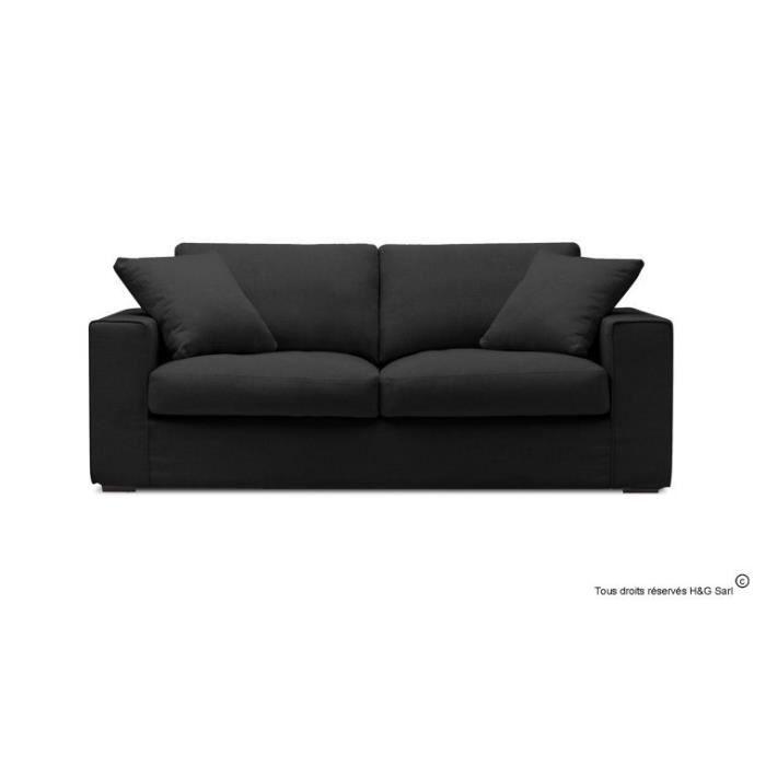 canape tissu design 2 places noir sans fauteuil achat vente canap 233 sofa divan