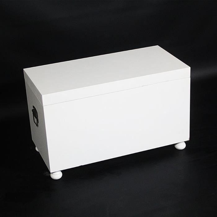 coffre milan blanc en bois blanc en soldes achat vente coffre milan blanc en bois. Black Bedroom Furniture Sets. Home Design Ideas