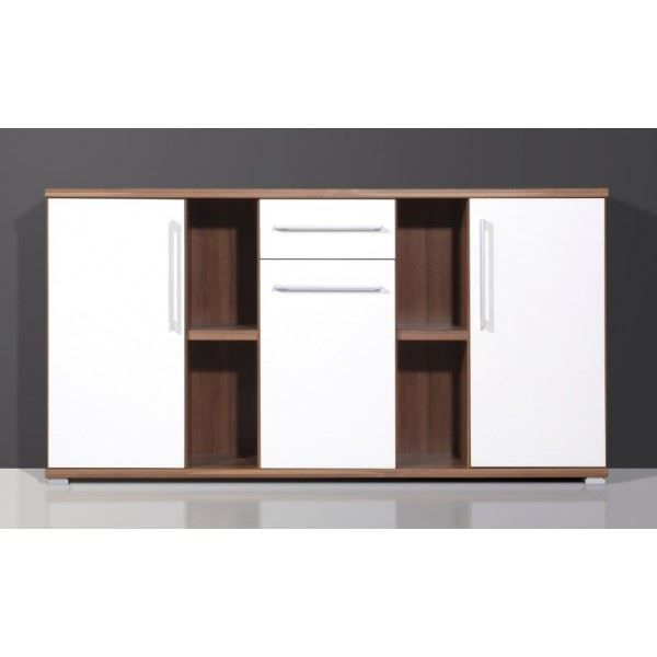 meuble de rangement visio coloris noyer am ric achat. Black Bedroom Furniture Sets. Home Design Ideas