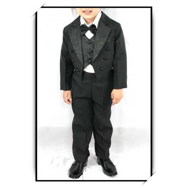 Costume gilet chemise enfant gar on vcs501b noir noir achat vente costume tailleur cdiscount - Costume noir chemise noir ...