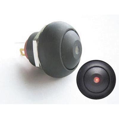 bouton poussoir miniature unipolaire a led rouge o achat. Black Bedroom Furniture Sets. Home Design Ideas