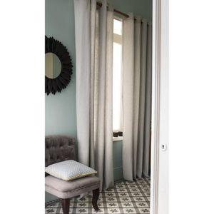 TODAY Rideau Lineo 100% coton 140x240 cm ciment