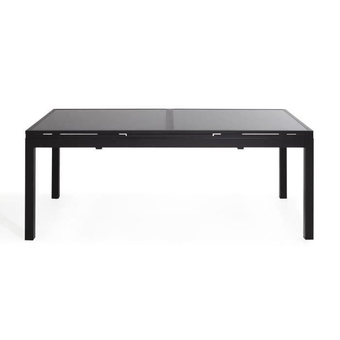 Dahlia Noir Table De Jardin Extensible 200 260cm En