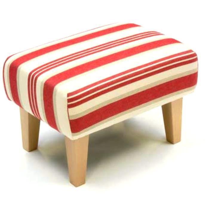 Repose pieds en tissu de style anglais classique recouvert d un motif rou - Tissus style anglais ...