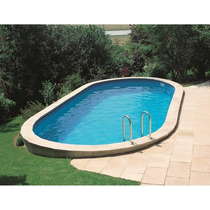 Gre star pool kit piscine enterr e ovale 5x3x1 20 m for Kit piscine enterree