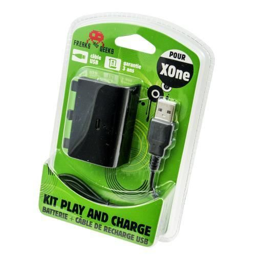 batterie cable de recharge pour xbox one play and charge. Black Bedroom Furniture Sets. Home Design Ideas