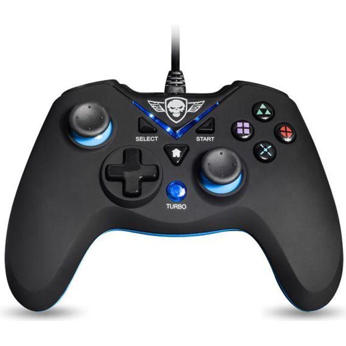 manette filaire pour playstation 3 pc gamer 12 boutons. Black Bedroom Furniture Sets. Home Design Ideas