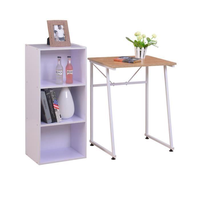 table de bureau informatique table pour ordinateur trois couches de stockage tag re achat. Black Bedroom Furniture Sets. Home Design Ideas