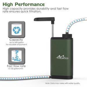 Filtre eau portable urgence personnelle camping purificateur d 39 eau vert prix pas cher - Purificateur d eau portable ...