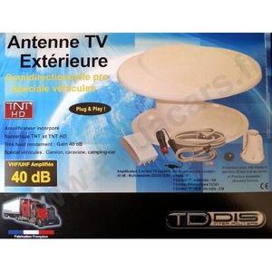 ANTENNE AUTO-MOTO Antenne TV Exterieure Omnidirectionnelle numérique