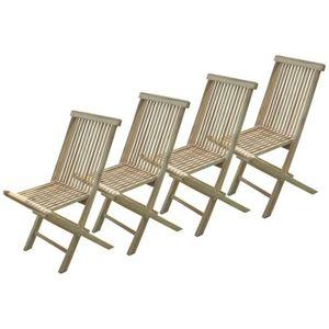 lot de 4 chaise de jardin en teck achat vente lot de 4. Black Bedroom Furniture Sets. Home Design Ideas