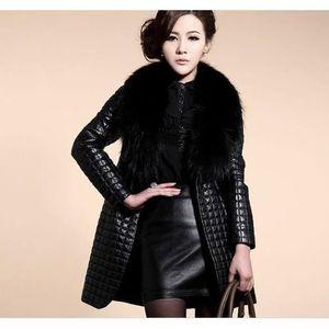 manteau long cuir femme achat vente manteau long cuir femme pas cher cdiscount. Black Bedroom Furniture Sets. Home Design Ideas