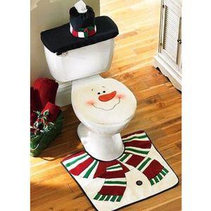 Deco noel wc achat vente deco noel wc pas cher cdiscount - Housse abattant wc ...