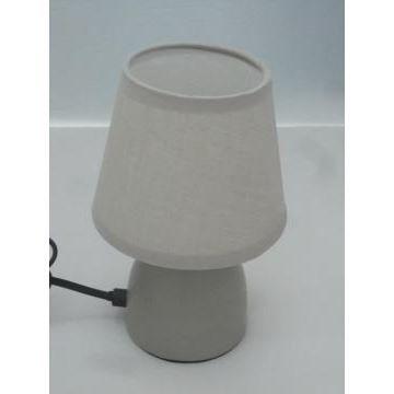 lampe de chevet pied en m tal taupe achat vente lampe. Black Bedroom Furniture Sets. Home Design Ideas