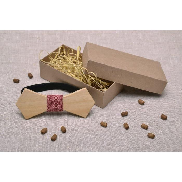 N ud papillon artisanal en bois naturel beige achat for Fumoir artisanal en bois