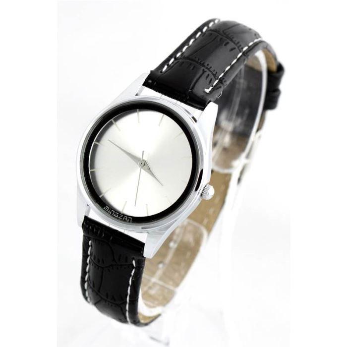 montre femme bracelet cuir noir 679 noir achat vente montre cdiscount. Black Bedroom Furniture Sets. Home Design Ideas