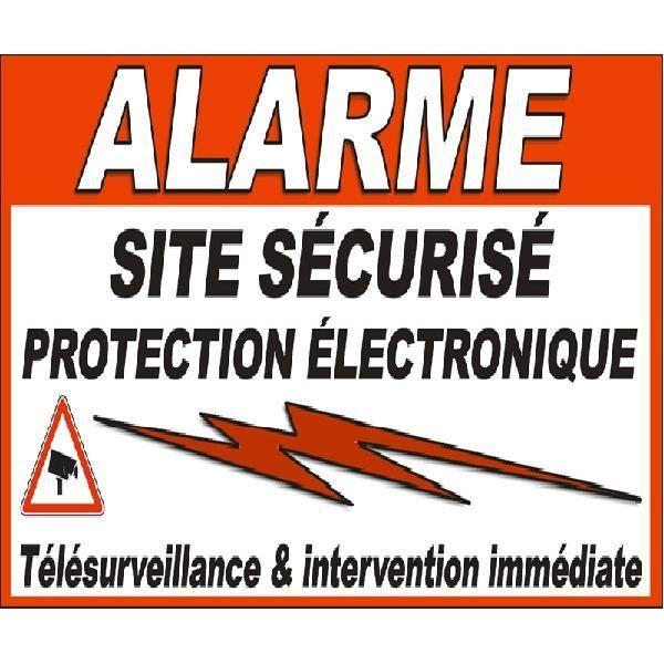 Autocollant alarme pour portail achat vente pi ces for Autocollant alarme maison