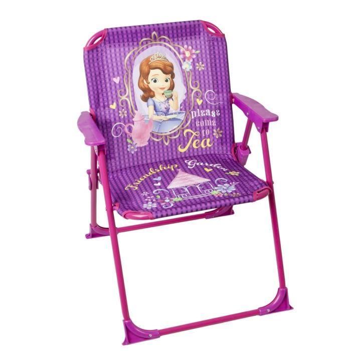 chaise pliable pour enfant princesse sofia achat vente chaise fauteuil jardin chaise. Black Bedroom Furniture Sets. Home Design Ideas