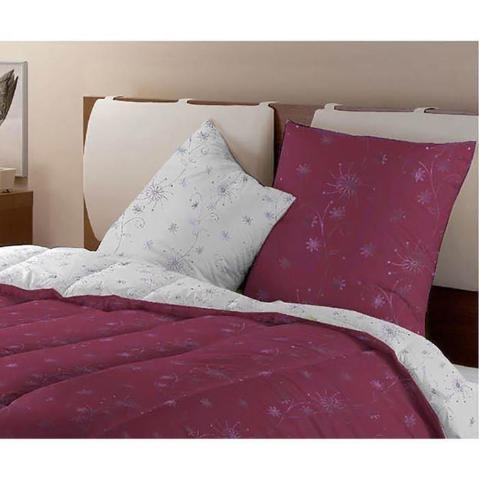 Dodo lot de 2 oreillers fantaisies h l na 60x60 cm gris et prune achat ve - Oreiller dodo vegetal 60x60 ...