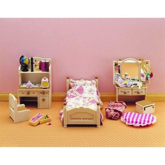 sylvanian families 2960 set chambre jeune fille achat vente accessoire de figurine cdiscount. Black Bedroom Furniture Sets. Home Design Ideas