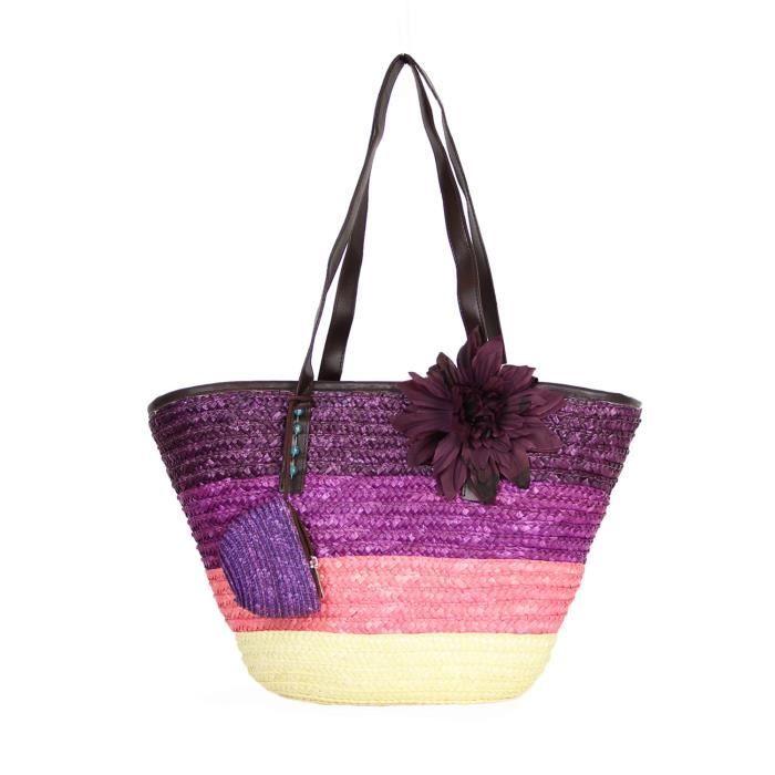 cabas en paille tie and dye achat vente panier sac de plage 3613140285960 cdiscount. Black Bedroom Furniture Sets. Home Design Ideas