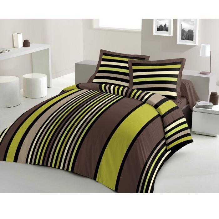 casatxu housse 240x220 2 taies sonya anis achat. Black Bedroom Furniture Sets. Home Design Ideas