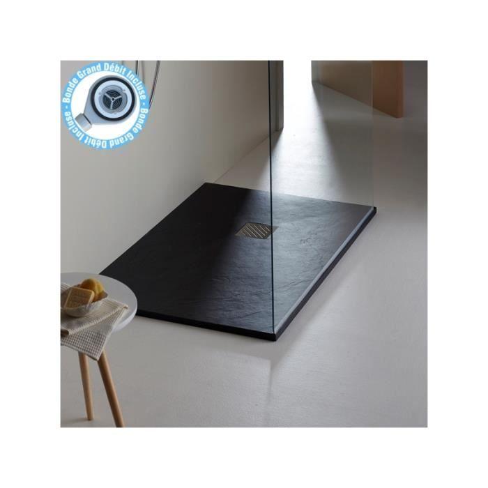Receveur extra plat noir en 90x140cm achat vente receveur de douche recev - Receveur a carreler 140 x 90 ...