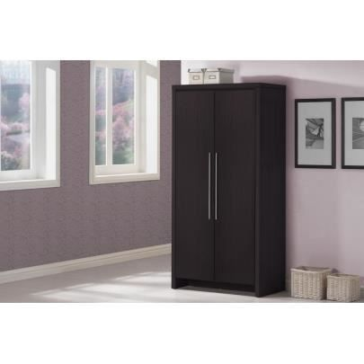 Armoire isis 2 portes cm weng achat vente for Armoire penderie wenge