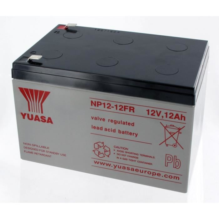 batterie plomb yuasa 12v 12ah np12 12fr achat vente batterie domotique cdiscount. Black Bedroom Furniture Sets. Home Design Ideas