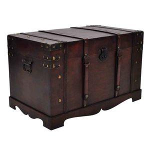 malle de rangement en bois achat vente malle de rangement en bois pas cher soldes cdiscount. Black Bedroom Furniture Sets. Home Design Ideas