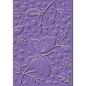 PLAQUE - POCHOIR Classeur gaufrage fleur et papillon cArt'Us 11 x 1