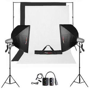 KIT STUDIO PHOTO Kit Flashs de Studio FQM-250/250 Plus avec Trepied