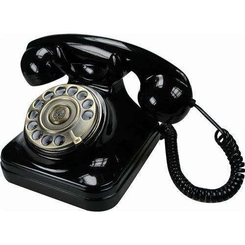 Objet decoratif telephone retro noir carre achat for Objets decoratifs maison