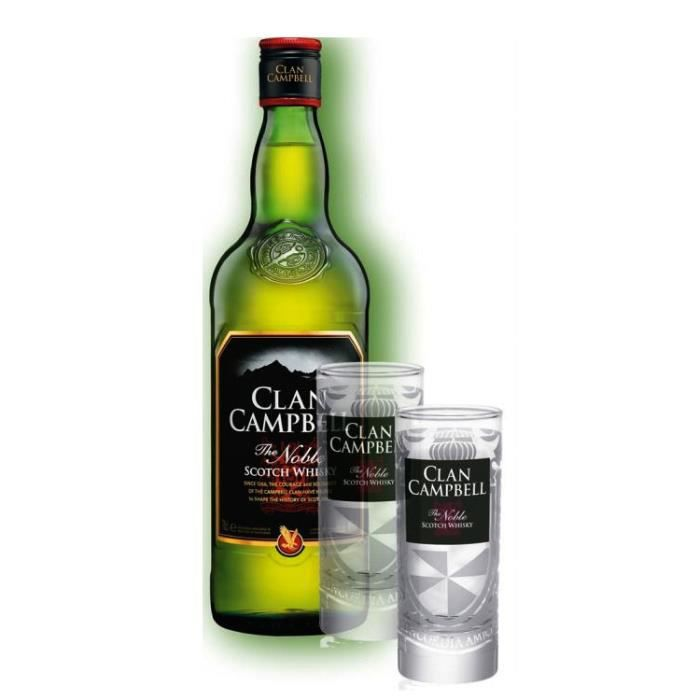 whisky clan campbell 2 verres clan campbell achat. Black Bedroom Furniture Sets. Home Design Ideas