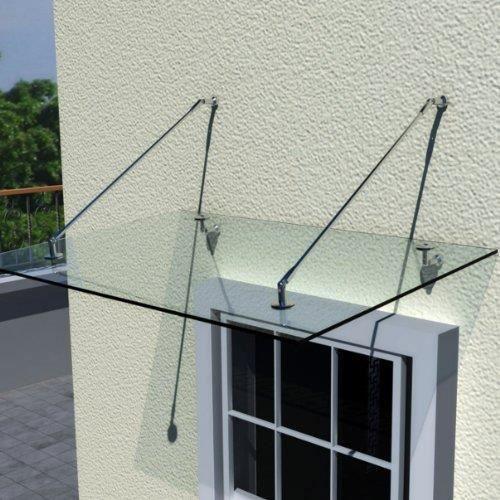 auvent 120x90 cm en verre de s curit achat vente marquise auvent auvent 120x90 cm en. Black Bedroom Furniture Sets. Home Design Ideas