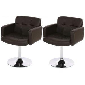 Fauteuil salle a manger avec accoudoir achat vente for Chaises fauteuil salle a manger