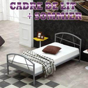 lit 90 x 200 cm avec sommier achat vente lit 90 x 200 cm avec sommier pas cher cdiscount. Black Bedroom Furniture Sets. Home Design Ideas