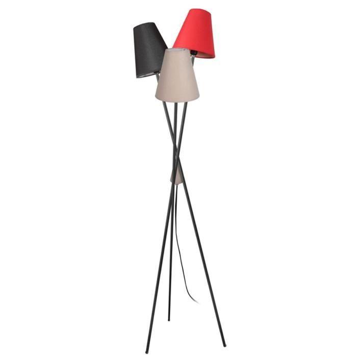 lampadaire 3 pieds noir